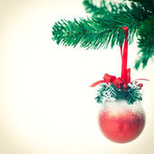 Red Christmas Ornament — Stock fotografie