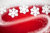 Red Snowflake Background — Stockfoto