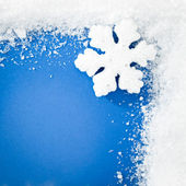 Blue Snowflake Background — 图库照片