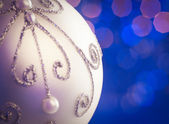 White Christmas Ornament — Stock Photo