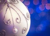 White Christmas Ornament — Foto Stock