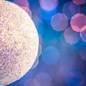 Shiny White Christmas Ornament — Foto Stock