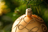 Yellow Christmas Ornament — Stock fotografie