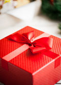 Red Christmas Present — Stock fotografie