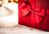 Red Christmas Present — Stockfoto