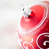 Red Christmas Ornament — Stok fotoğraf