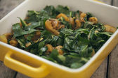 Spinach and Squash Casserole — Stock Photo