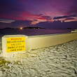 Warn Sign Life Guard — Stock Photo