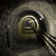 Stock Photo: Tunnel pit mining