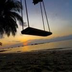 Swing between Palms — Stock Photo #30044013