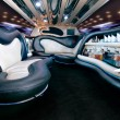 Stretch limousine interior — Stock Photo