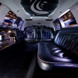 Stock Photo: Stretch limousine interior