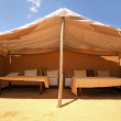 Open air tent in Morocco — Stock Photo