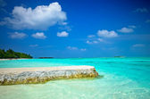 Maldives Blue Water — Stock Photo