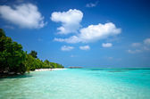 Maldives Blue Water — Stockfoto