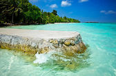 Clear Water Beach Maldives — Stock Photo