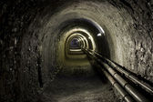 Tunnel pit mining — Stock Photo