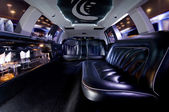Stretch limousine interior — Stockfoto