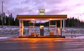 Lonely gas station in Finland — Stock Photo