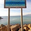 Atlantic ocean sign — Stockfoto