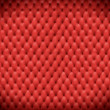 Red leather cushion — Stock Photo