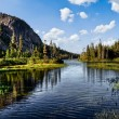 Lake scenery in a national park — Stock Photo