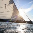 Sailing in sunlight — Stock Photo