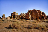 Rock formation alabama hills — Stock Photo