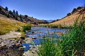 River through barren landscape — Stock Photo