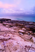 Coast in the afterglow — Stock Photo