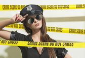 Seksowny policjant — Zdjęcie stockowe