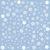 Winter background of beautiful snowflakes — Stock Vector