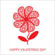 Stockfoto: Elegant flower greetings Happy Valentine's Day, design element