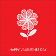 Elegant flower greetings Happy Valentine's Day, design element — Foto de stock #37560701