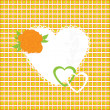 Шllustration of beautiful heart icon. Card for valentine's day, — Stock Photo