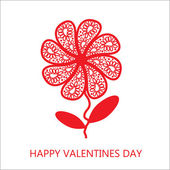 Elegant flower greetings Happy Valentine's Day, design element — Foto de Stock