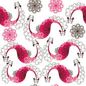 Paisley seamless pattern and seamless pattern in swatch menu.  — Stok Vektör