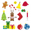 Christmas things vector illustration collection — Stock Vector