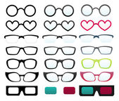 Vector glasses collection — Stock Vector