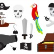 Stock Vector: Pirate vector set