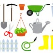 Gardening equipment vector set — Stock Vector