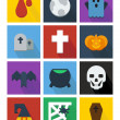 Halloween flat icons — Stock Photo
