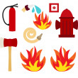 Fire safety vector — Stock Photo