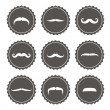 Vector mustache label set — Stock Photo #32693827