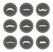 Vector mustache label set — Stock Photo