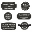 Set of black friday tags — Stock Vector