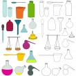 Alchemy equipment drawing — Stock Vector