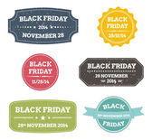 Black friday colorful labels — Vettoriale Stock