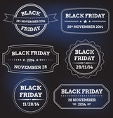 Black friday labels — Stock Vector