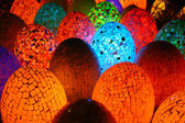 Colorful egg shaped lamps — Stock Photo